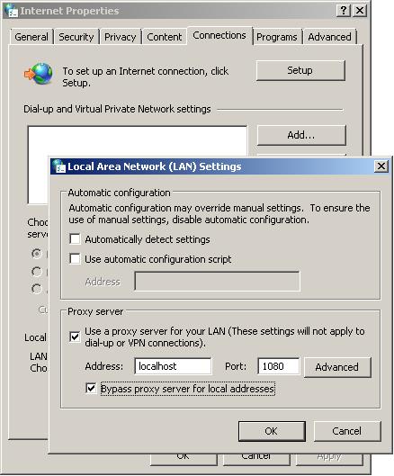 Enable Proxy Server Setting