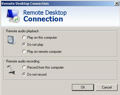 Remote Audio Settings