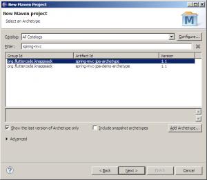 Spring MVC web application