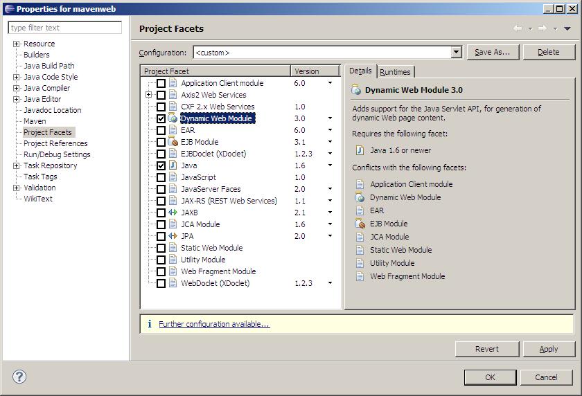 Maven as Eclipse Dynamic Web Module - Java Blog   blog