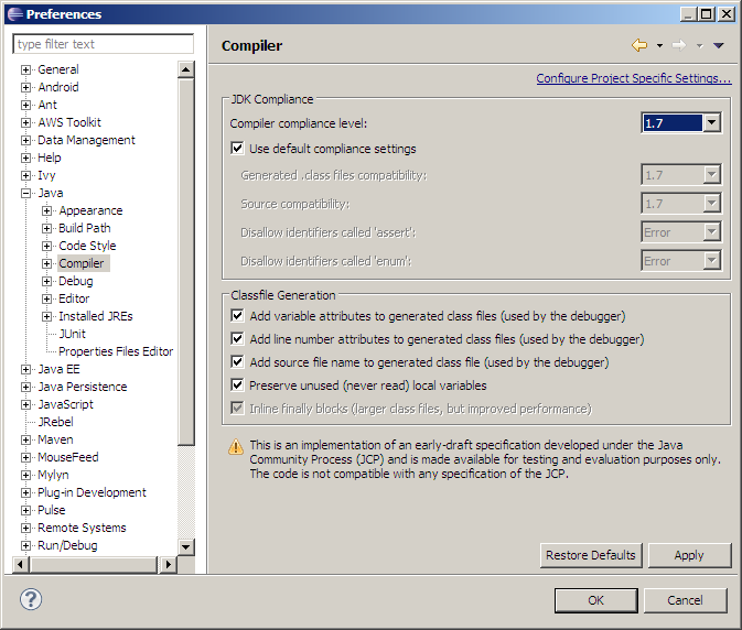 eclipse indigo 3.7.1