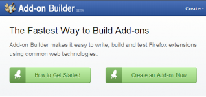 Firefox Add On Builder