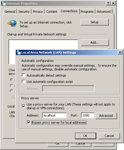 Enable Proxy Server Setting