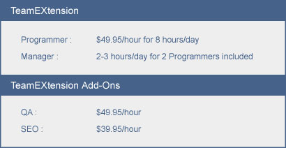 TeamEXtension Pricing